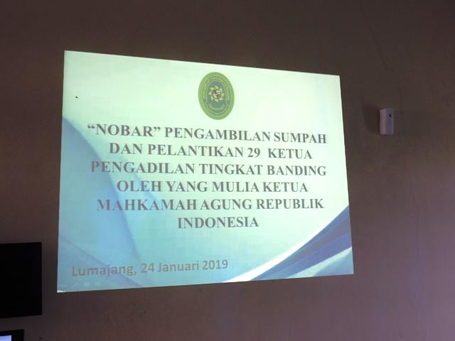 Live Streaming Pelantikan 29 Ketua Pengadilan Tingkat Banding