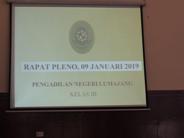 Rapat Pleno Bulan Januari 2019